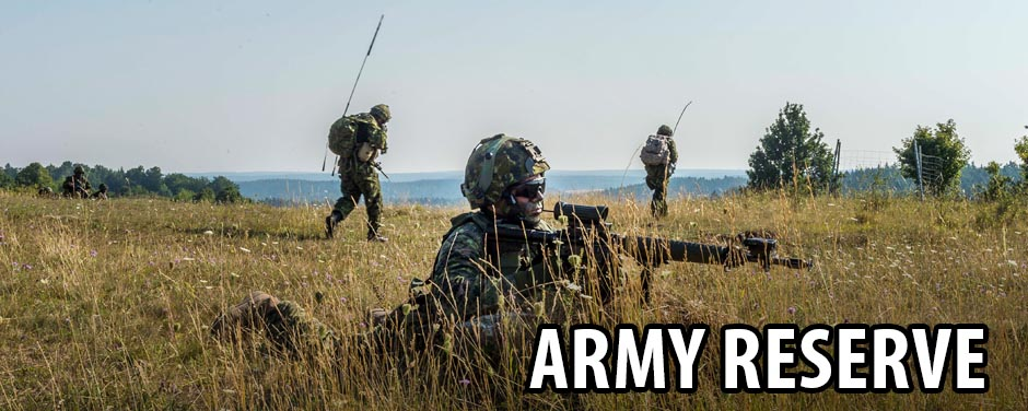 Soldiers in a field - Army Reserve