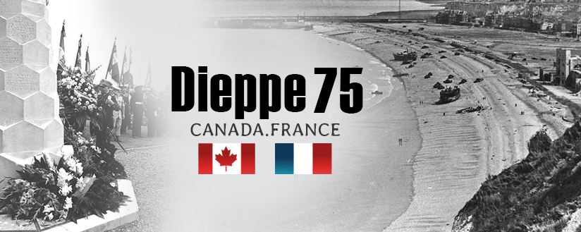 Graphic with the words Dieppe 75