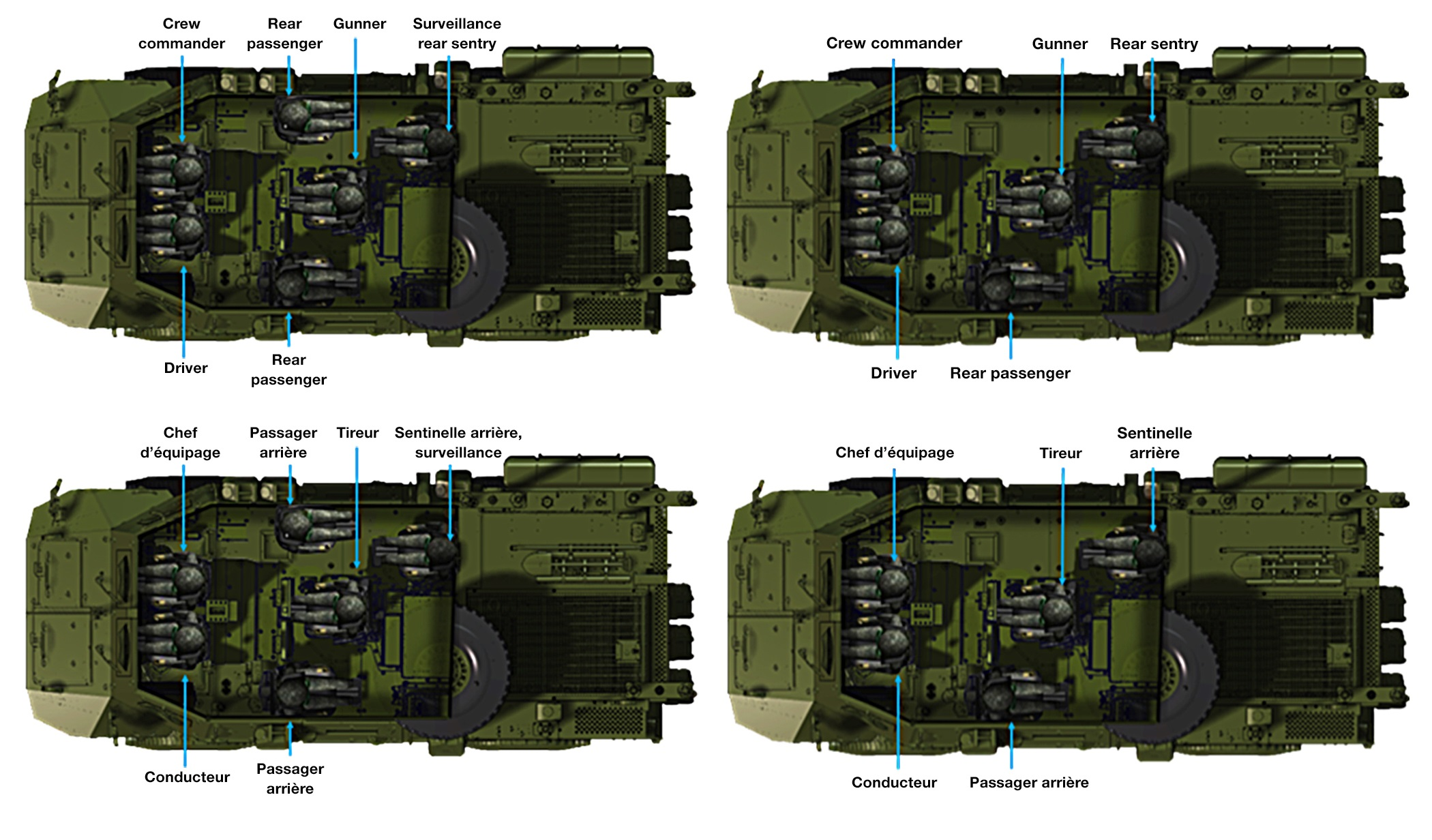 Descriptive diagram of Tactical Armoured Patrol Vehicle. Photo supplied by: Textron Systems Canada Inc.