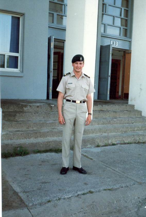 Second Lieutenant Rob Roy MacKenzie in 1986 after commissioning. The following summer he won the Canadian Infantry Association Sword as the Top Candidate on his Lieutenant qualifying course at the Infantry School in Gagetown. Photo provided by: BGen Rob Roy MacKenzie.