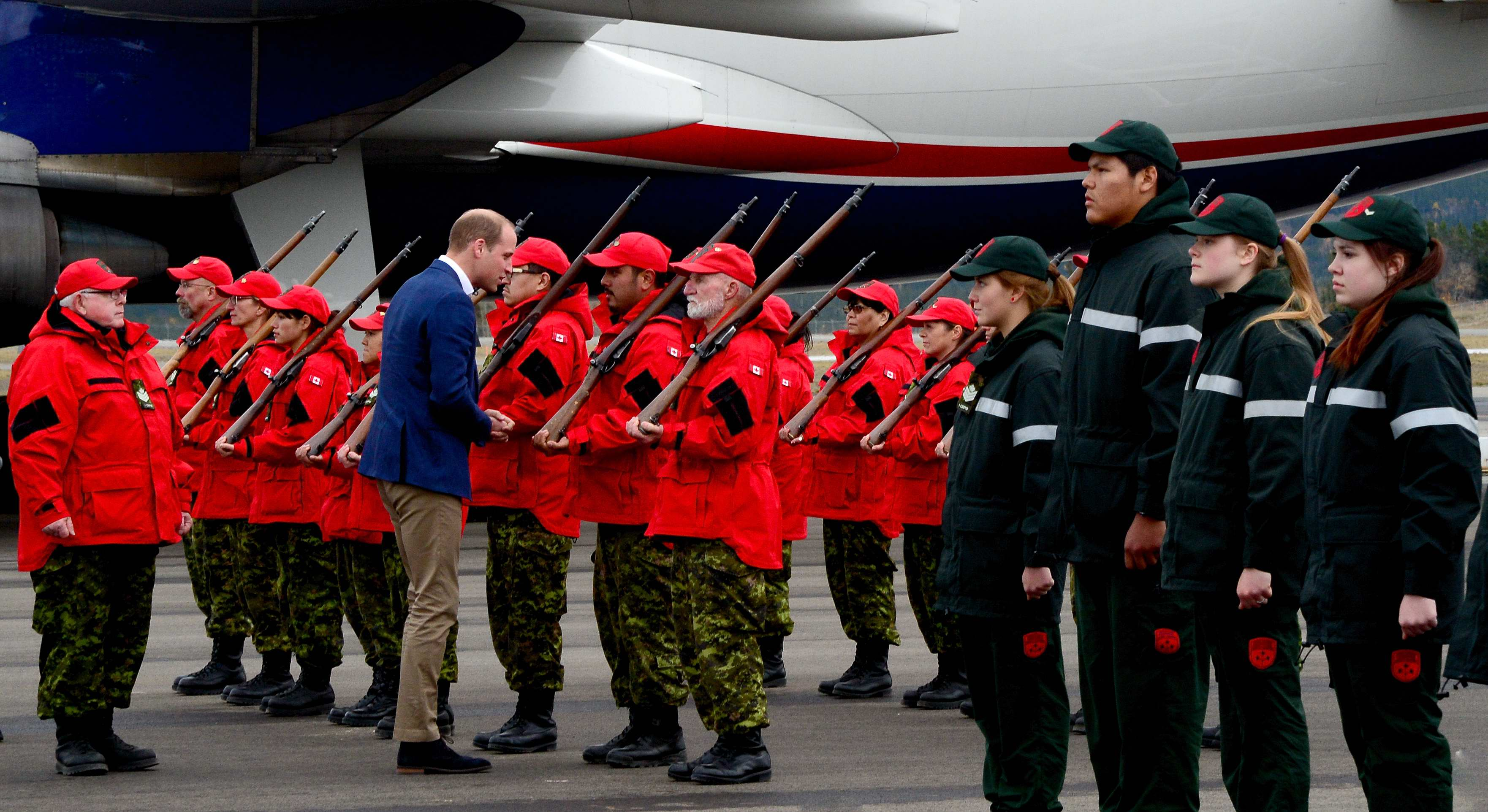His Royal Highness, Prince William inspects Quarter Guards of the Canadian Rangers and Junior Canadian Rangers