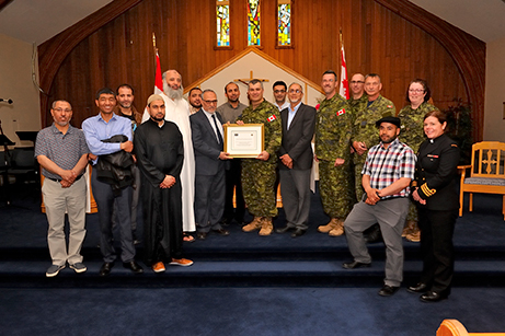 Base Valcartier welcomed representatives from the Muslim community