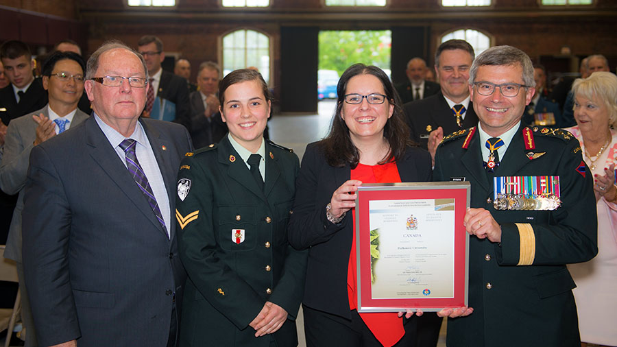 The Most Supportive to Student Reservists award was presented to Dalhousie University