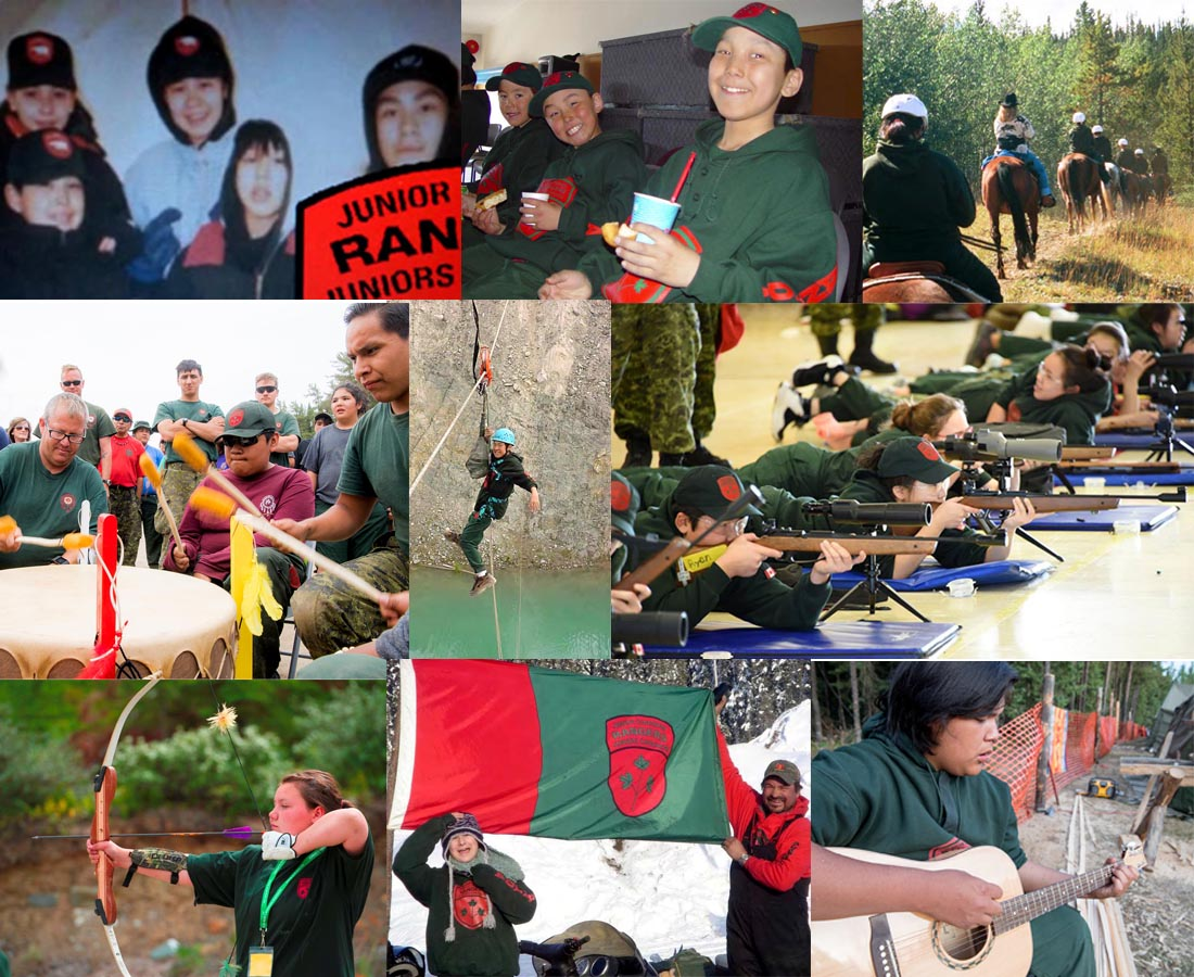 Collage of Junior Canadian Rangers images