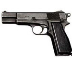 The Browning 9-mm pistol is a personal protection weapon.
